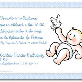 Invitación Bautizo Niño