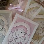 Láminas Virgen con niño infantil Siempreloquise.com