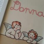 Cuadro infantil personalizado con nombre y angelitos Siempreloquise.com