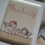 Cuadro personalizado angelitos para bebé Siempreloquise.com