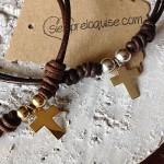 Cruz de plata y cruz de plata bañada en oro Siempreloquise.com