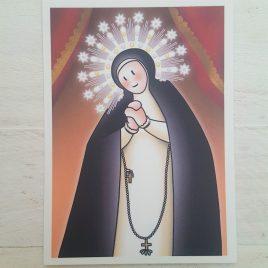 Estampa Virgen de Paloma