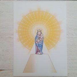 Estampa Virgen del Pilar