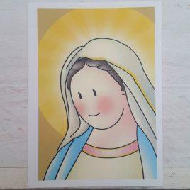 Estampa Virgen de Medjugorje