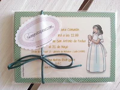 Invitaciones y Libro de firmas para Carolina