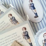 Libro de Firmas, invitaciones y etiquetas para detalles invitados personalizados Primera Comunión