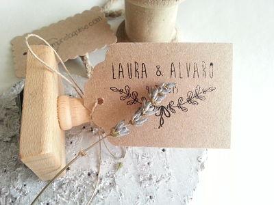 Sello de boda para Laura