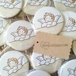 Espejos de ángeles personalizados para bautizo