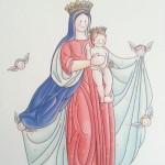 Recordatorio Virgen del oratorio del Colegio Grazalema