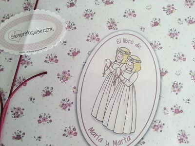 La Primera Comunión de María y Marta