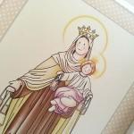Virgen del Carmen para niños siempreloquise.com