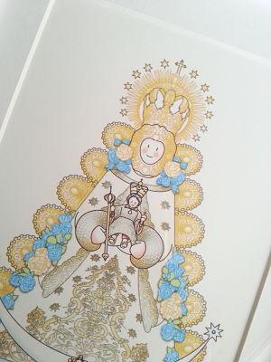 Virgen del Rocío para niños