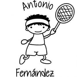 Sello infantil Antonio Fernández