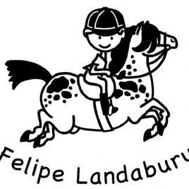 Sello infantil Felipe Landaburu