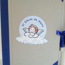 Album bautizo angelito azul