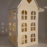casa con luz led