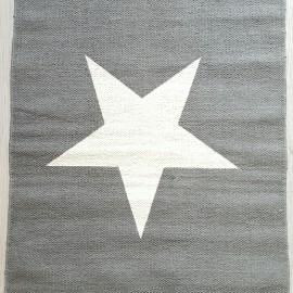 Alfombra estrella gris