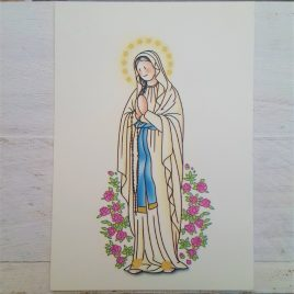 Estampa Virgen de Lourdes