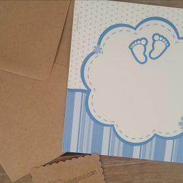 Tarjeta azul y sobre craft