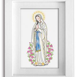 Cuadro Virgen de Lourdes