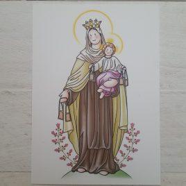 Estampa Virgen del Carmen