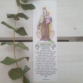Marcapáginas Virgen del Carmen