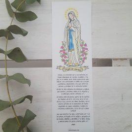 Marcapáginas Virgen de Lourdes