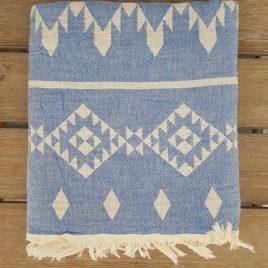 Toalla pestemal – kilim azul