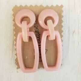 Pendientes pasta alargados rosa palo
