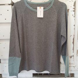 Jersey bicolor gris y verde