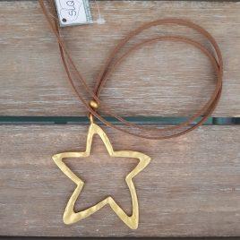 Collar estrella dorada