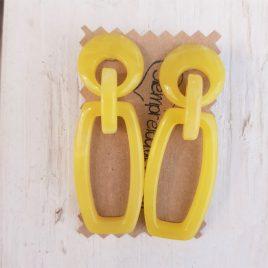 Pendiente pasta alargados amarillos