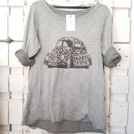 Camiseta coche print gris
