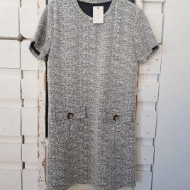 Vestido chanel gris