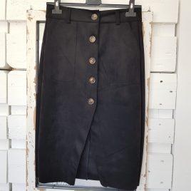 Falda antelina negra
