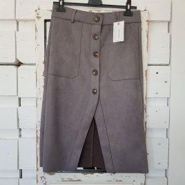 Falda antelina gris