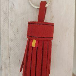 Llavero Borla Antelina Rojo