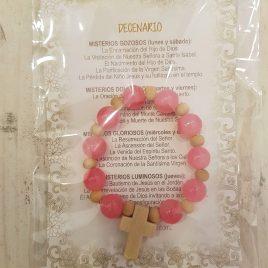 Rosario decenario piedra rosa